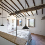 Master bedroom views luxury holiday rental Tuscany