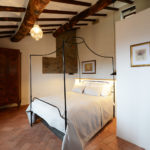 White Company four poster bed in luxury Tuscany holiday rental