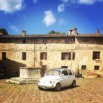 Fiat 500 in San Gimignano